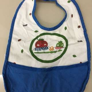 Baby Bib Blue White