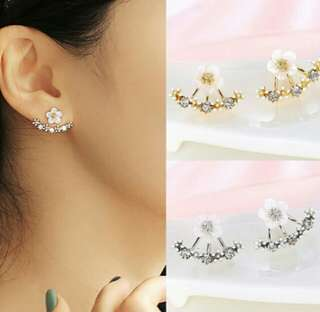 Flower Zircon Stud Earrings