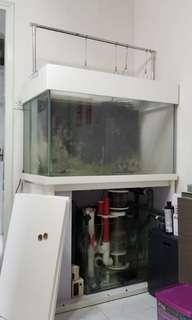 魚缸(40吋),櫃,齊配件 (上門自取減$300)