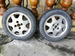 R14 Rota mags with used Tires