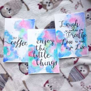 Tumblr Calligraphy Cards [Cuztomizable]