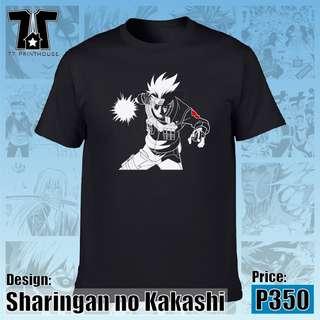 Sharingan no Kakashi   Naruto T-Shirt   Black White