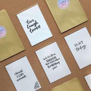 LIFE // Handwritten Cards