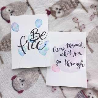 Minimalistic Calligraphy Cards [Customizable]