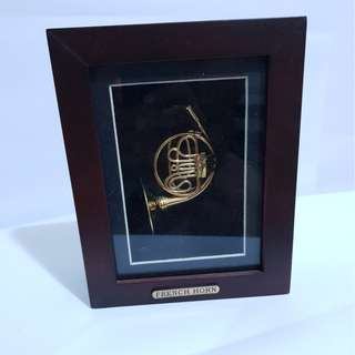 Miniature French Horn display