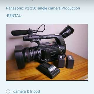 Panasonic P2 250 Single Camera Production For Rent