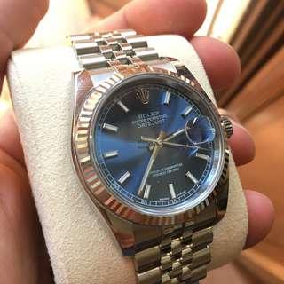 Rolex datejust 116234 blue dial