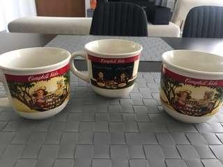 Campbell mugs set of 3