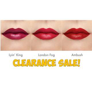 CLEARANCE! 50% off! ColourPop Ultra Matte and Ultra Satin Liquid Lips