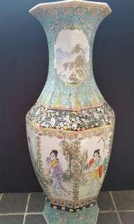 漂亮仕女8角花瓶-60cm H