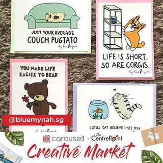 Join Blue Mynah at Carousell Creative Market @ The Centrepoint!