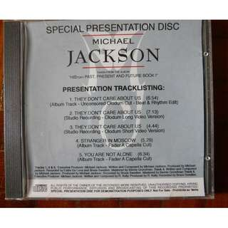 Michael Jackson Mega Rare They Don't Care about Us Studio Promo CD single History