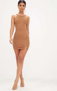 High neck body con dress