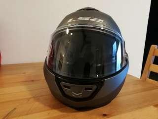 LS2 FF399 Valiant Modular Helmet Titanium Sise M