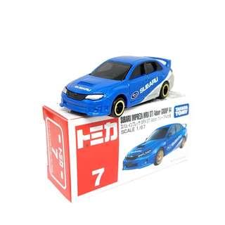 Tomica Takara Tomy 007 SUBARU IMPREZA WRX STI 4Door R4 Mini Diecast Toy Car (Box)