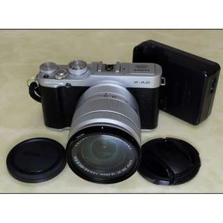 Fujifilm X-a2 Body,16mmx50mm Lens + 50mmx230mm Lens,Ori Battery,Charges,Good Condition.