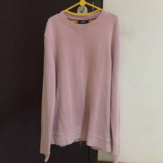 H&M Pink Crewneck Sweatshirt regular fit (men's)