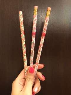 Sanrio 1992 marron cream pencil x 3 made in japan