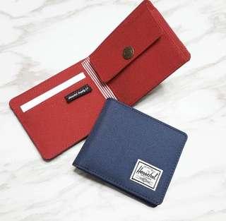 Herschel 銀包藍紅全卡位$200