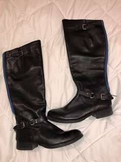 Steve Madden Leather boots black US 8