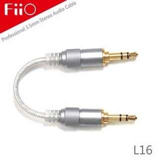 全新 FiiO L16 對錄線 無氧銅 鍍銀 Audio Cable 3.5mm - 3.5mm Plug 13cm 長