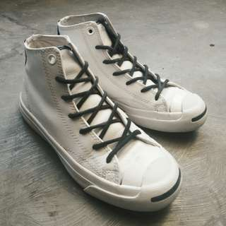 Converse jack purcell high white tumbled leather