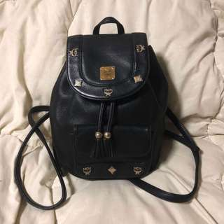 Mcm Leather Haversack / Backpack (small)