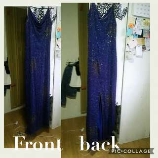 Beaded long gown for rent / sale