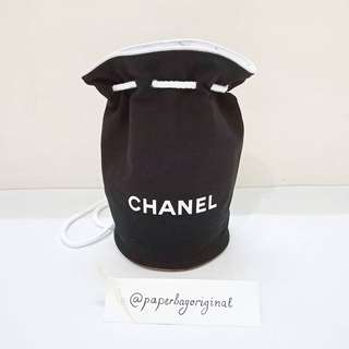 Chanel Bucket Bag Canvas Drawstring Pouch VIP Gift