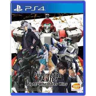 [NEW NOT USED] PS4 Full Metal Panic! Fight! Who Dares Wins Sony Bandai Namco Strategy Games