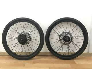 "20"" wheel set from JAVA folding bike"