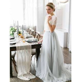 Lookbook- Bridal Separates Two Pieces Wedding Dress Inspired by Alexandra Greeco
