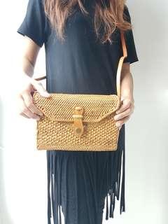 (ONHAND) Rectangle Rattan Bag from Bali