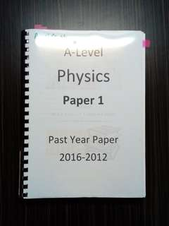 AS Physics past year papers