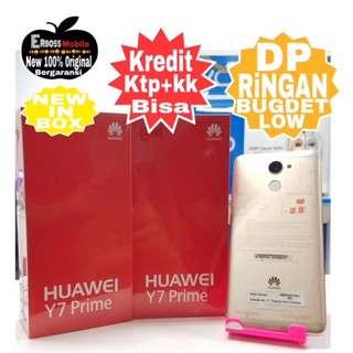 Huawei Y7 Prime New Resmi 3/32GB Cash/Kredit Dp 700rb call/wa;081905288895