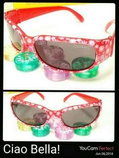 🚚 CeramiC甜美女孩紅色碎花 抗紫外線兒童太陽眼鏡