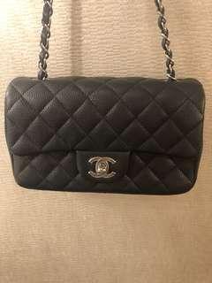 Chanel classic mini 20cm 銀鏈