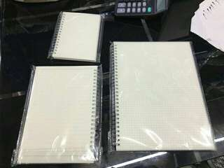 A6 A5 B5 sizes Muji-Styled Notebooks