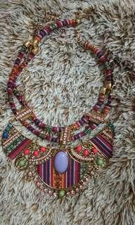 Stone ethnic necklace