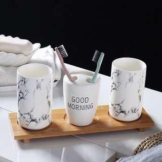 52)Nordic Bathroom Mug Set