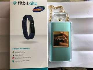 90% 新行貨 Fitbit Alta (NOT HR) 智能手錶 size S (送香水造型尿袋一個)