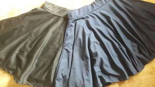 BUY 1 TAKE 1 SKATER SKIRTS (COLORS NAVY BLUE AND BLACK)