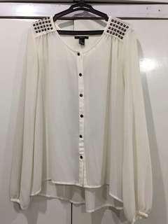 Forever 21 white long sleeves