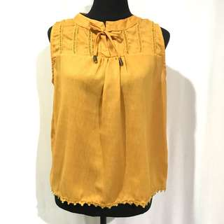 Mustard Sleevesless Top
