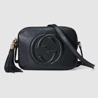 ✨gucci black soho disco bag