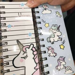 HARDBOUND UNICORN NOTEBOOK