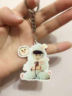 🈹 Exo 燦烈 chanyeol 可愛 鎖匙扣 送貼紙