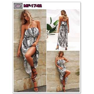 CODE: MF-1742 Printed Tube Dress