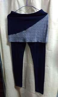 🚚 藍線條棉褲
