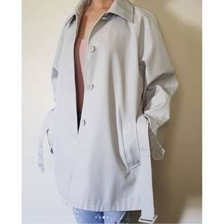 zunao_wearables🌹Single-breasted peacoat 🌹 Cloud grey, super light blue